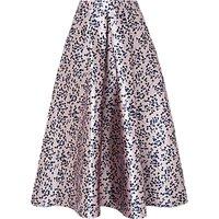 L.K.Bennett Lilith Printed Skirt, Lavender Blue
