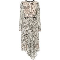 L.K.Bennett Linnea Printed Silk Dress, Cream
