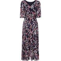 L.K.Bennett Delina Silk Print Dress, Blue/Pink