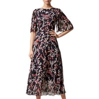 L.K.Bennett Delina Silk Print Dress, Blue/Pink