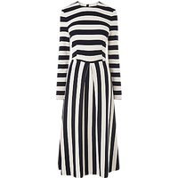 L.K.Bennett Maria Bold Stripe Dress, Blue Cream