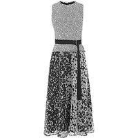 L.K.Bennett Viviene Print Cotton Mix Dress, Black