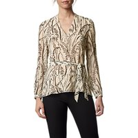 L.K.Bennett Linnea Silk Top, Cream