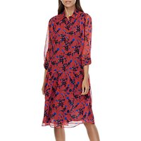 Brora Liberty Print Silk Chiffon Dress, Hibiscus Floral