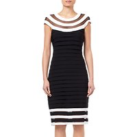Adrianna Papell Jersey Dress, Black/White