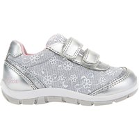 Geox Children's Shaax Floral Rip-Tape Casual Shoes, Silver