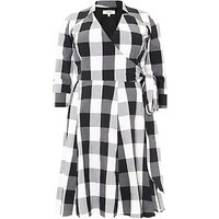 Studio 8 Alice Gingham Dress, Black/White
