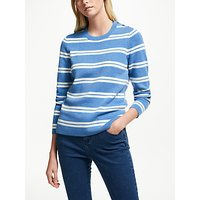 Collection Weekend By John Lewis Stripe Button Sweater, Blue/ivory