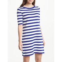 Winser London Striped Cotton Shift Dress, Winser Blue/Soft White