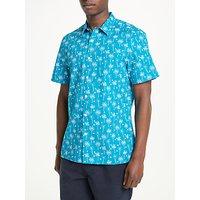 Kin Palm Tree Short Sleeve Shirt, Blue