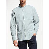 JOHN LEWIS & Co. Fine Stripe Grandad Shirt, Blue