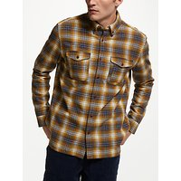 JOHN LEWIS & Co. Heavy Ombre Check Shirt, Yellow