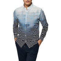 Selected Homme + Onemiguel Long Sleeve Stripe Shirt, Lake Blue Stripes