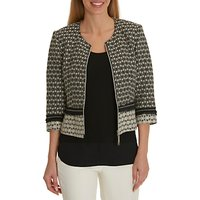 Betty Barclay Tapestry Jacket, Black/Crea