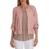 Betty Barclay Two-Way Zip Jacket, Powder Rose
