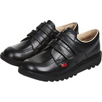 Kickers Children's Kick 3 Strap Lo-Top Shoes, Black
