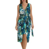 Betty Barclay Wrap Around Fern Dress, Blue