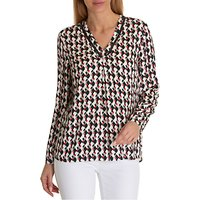 Betty Barclay Graphic Print Blouse, Cream/Red