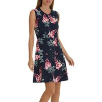 Betty Barclay Floral Jersey Dress, Dark Blue