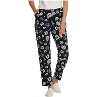 Betty Barclay Floral Print Trousers, Dark Blue/Cream