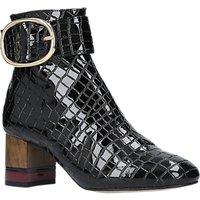 Kurt Geiger London Ring Block Heeled Ankle Boots, Patent Black