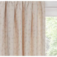 John Lewis and Partners Leaf Trail Pair Lined Pencil Pleat Curtains, Natural