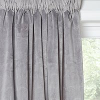 John Lewis and Partners Velvet Pavone Lined Multiway Curtains, Silver