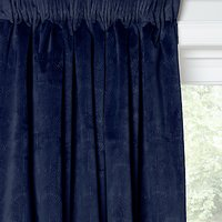 John Lewis and Partners Velvet Pavone Lined Multiway Curtains, Navy