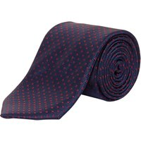 Chester by Chester Barrie Ring Weave Silk Tie, Navy/Red