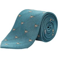 Chester by Chester Barrie Duck Weave Silk Tie, Aqua