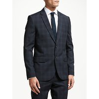 PS Paul Smith Wool Check Tailored Fit Suit Jacket, Ink