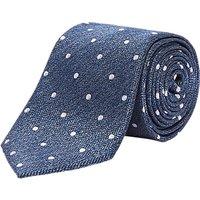 Richard James Mayfair Spot Weave Silk Tie, Blue