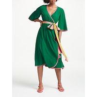 Boden Cornelia Wrap Dress, Sap Green