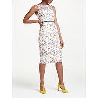 Boden Marjorie Organza Dress, Navy Garland