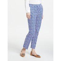 Boden Richmond 7/8 Trousers, Greek Blue