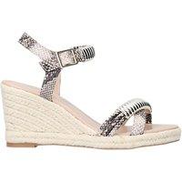 Carvela Slipper Wedge Heel Embellished Sandals, Beige/multi