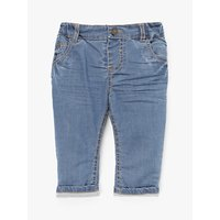 John Lewis Baby Stretch Denim Jeans, Blue