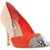 Dune Aveeva Stiletto Heel Court Shoes, Multi Leather