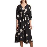 Allsaints Lavete Silk Dress, Black