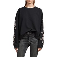 AllSaints Magnolia Lo Sweatshirt, Black