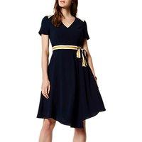 Karen Millen Spliced Stripe College Dress, Navy