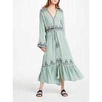 Ruby Yaya Nolan Embroidered Dress, Sage