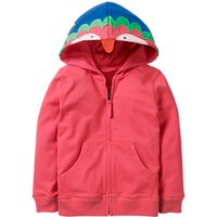 Mini Boden Girls' Parrot Zip Through Hoodie, Pink