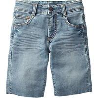 Mini Boden Boys' Jersey Denim Shorts, Blue