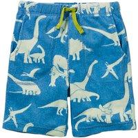 Mini Boden Boys' Dinosaur Towelling Shorts, Blue