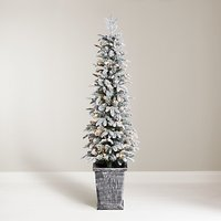 John Lewis & Partners Verbier Potted Pre-lit Christmas Tree, 5ft
