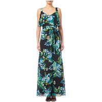 Adrianna Papell Printed Burn Out Maxi Dress, Black/Multi