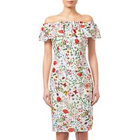 Adrianna Papell Bloom Printed Dress, Ivory/Multi