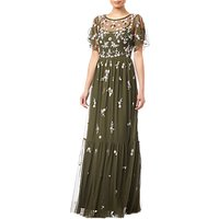 Adrianna Papell Beaded Mesh Dress, Olive