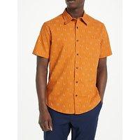 JOHN LEWIS & Co. Aztec Print Short Sleeve Shirt, Orange